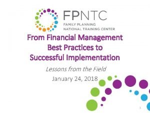 From Financial Management Best Practices to Successful Implementation