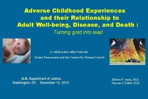 Adverse Childhood Experiences and their Relationship to Adult