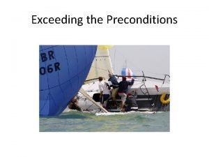Exceeding the Preconditions Anti Patterns and Refactoring CSE