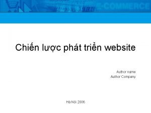 Chin lc pht trin website Author name Author