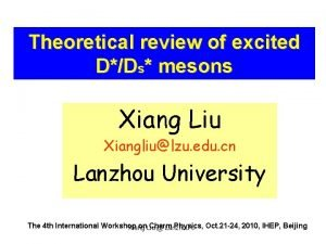 Theoretical review of excited DDs mesons Xiang Liu