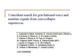 Coincident search for gravitationalwave and neutrino signals from