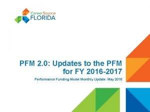 PFM 2 0 Updates to the PFM for