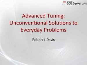 Advanced Tuning Unconventional Solutions to Everyday Problems Robert