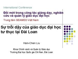 International Conference i mi trong cng tc ging