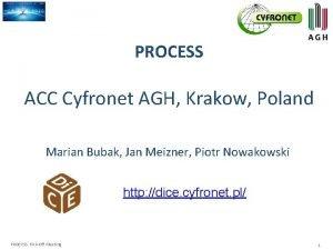 PROCESS ACC Cyfronet AGH Krakow Poland Marian Bubak