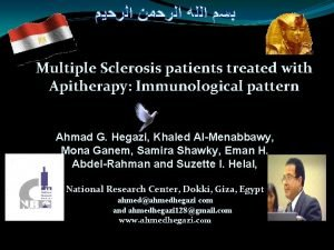 Multiple Sclerosis patients treated with Apitherapy Immunological pattern