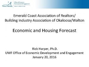 Emerald Coast Association of Realtors Building Industry Association