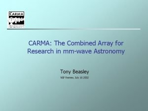 CARMA The Combined Array for Research in mmwave