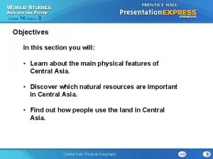 Chapter 14 Section 3 Objectives In this section
