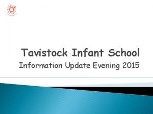 Tavistock Infant School Information Update Evening 2015 Aims