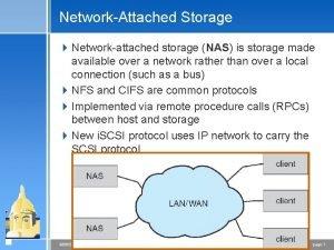 NetworkAttached Storage 4 Networkattached storage NAS is storage