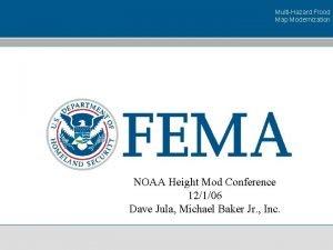 MultiHazard Flood Map Modernization NOAA Height Mod Conference