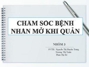 NHM 3 SVTH Nguyn Th Huyn Trang Trng