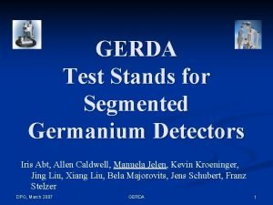 GERDA Test Stands for Segmented Germanium Detectors Iris