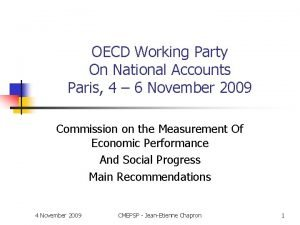 OECD Working Party On National Accounts Paris 4