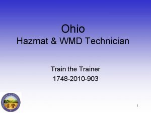 Ohio Hazmat WMD Technician Train the Trainer 1748