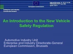 European Commission Informal Document No WP 29 145