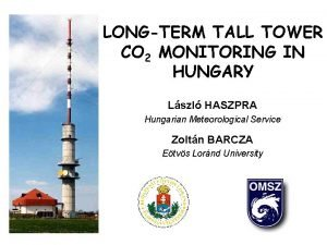 LONGTERM TALL TOWER CO 2 MONITORING IN HUNGARY