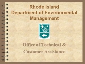 Rhode Island Department of Environmental Management Office of
