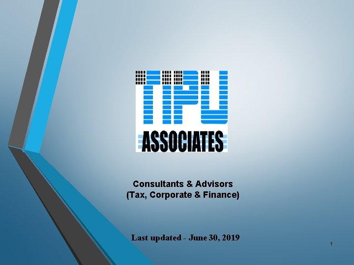 Consultants Advisors Tax Corporate Finance Last updated June