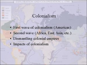 Colonialism First wave of colonialism Americas Second wave