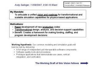 Andy Salinger 11082007 9 30 10 30 am