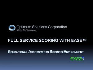 Optimum Solutions Corporation All the Right Answers FULL