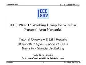 November 1999 doc IEEE 802 15 99179 r