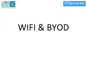 WIFI BYOD Drivers for new Wifi Network Old