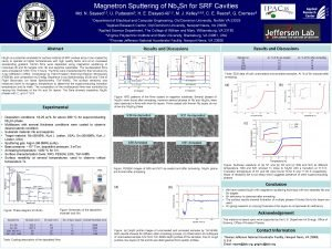 Magnetron Sputtering of Nb 3 Sn for SRF