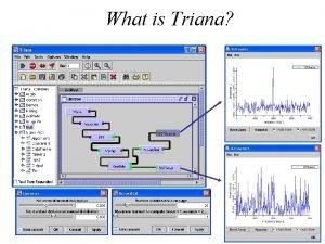 What is Triana Triana Distributed Workflow Triana Service