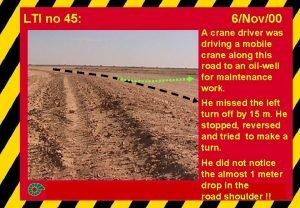 LTI no 45 6Nov00 A crane driver was