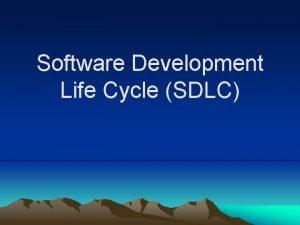 Software Development Life Cycle SDLC Capability Maturity Model