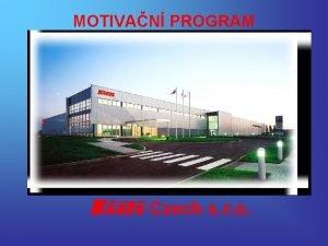 MOTIVAN PROGRAM Czech s r o Automobilov produkty