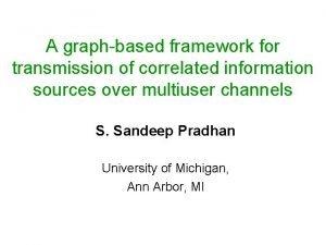 A graphbased framework for transmission of correlated information