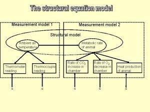 Measurement model 1 Measurement model 2 Structural model