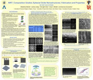 NIRT Composition Graded Epitaxial Oxide Nanostructures Fabrication and