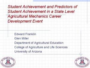 Student Achievement and Predictors of Student Achievement in