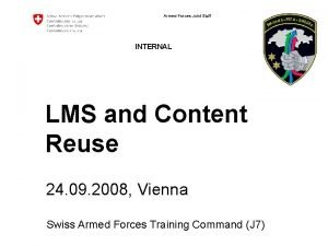 Armed Forces Joint Staff INTERNAL LMS and Content