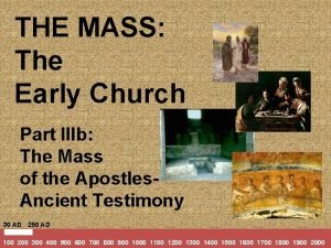 THE MASS The Early Church Part IIIb The