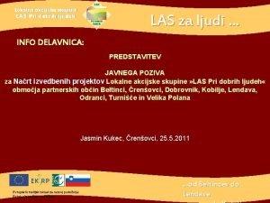 Lokalna akcijska skupina LAS za ljudi LAS Pri