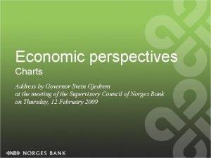 Economic perspectives Charts Address by Governor Svein Gjedrem