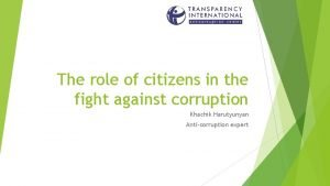 The role of citizens in the fight against