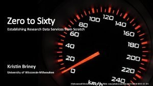 Zero to Sixty Establishing Research Data Services from