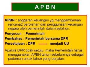 APBN anggaran keuangan yg menggambarkan rencana 2 perolehan