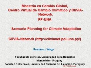 Maestria en Cambio Global Centro Virtual de Cambio