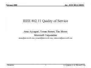February 2000 doc IEEE 802 11 00051 IEEE