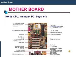 Mother Board MOTHER BOARD Holds CPU memory PCI