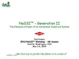Ne SSI Generation II The Elements Power of